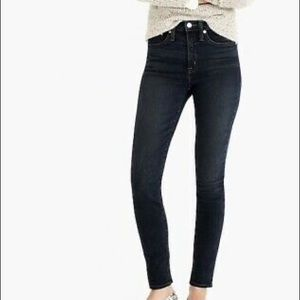 "J.Crew 9"" high rise knit toothpick jean"